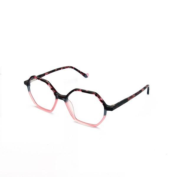 醋酸板材眼镜-G5297黑魅粉