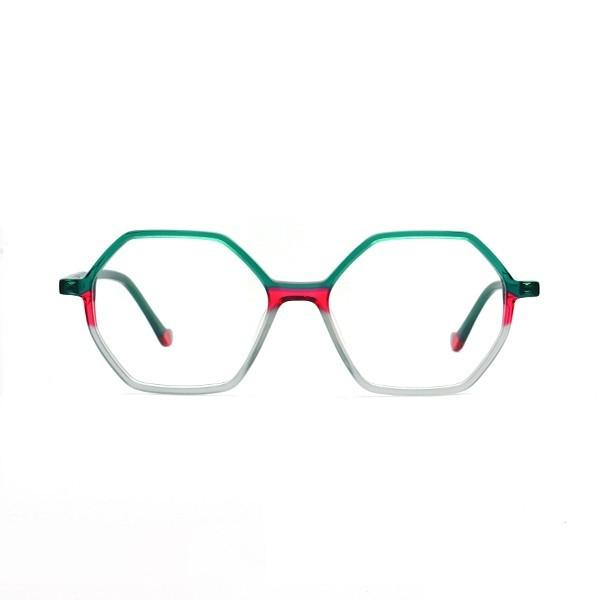 醋酸板材眼镜-G5297红绿灰